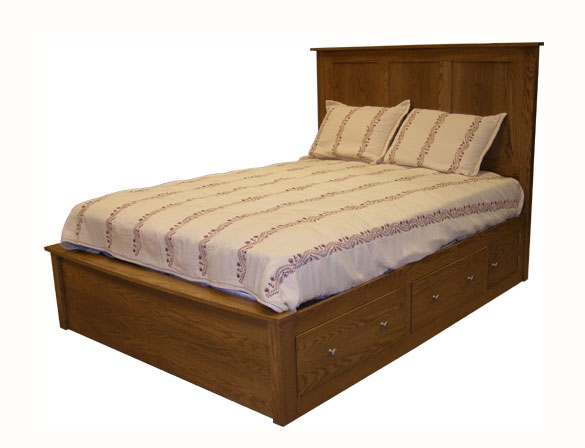 Amish Holmes Panel Bed