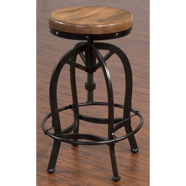 Super Adjustable Metal Stool W Wooden Seat Evergreenethics Interior Chair Design Evergreenethicsorg