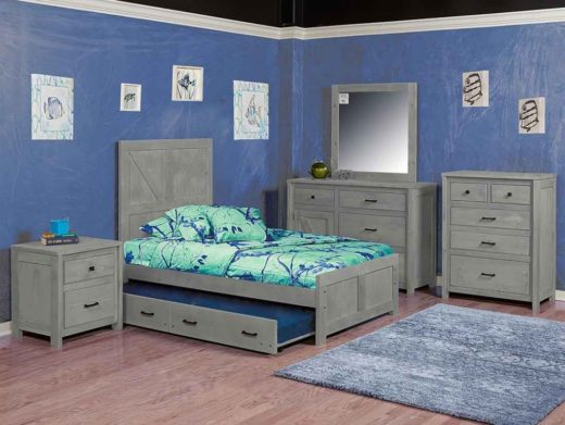 uranch panel bed gray
