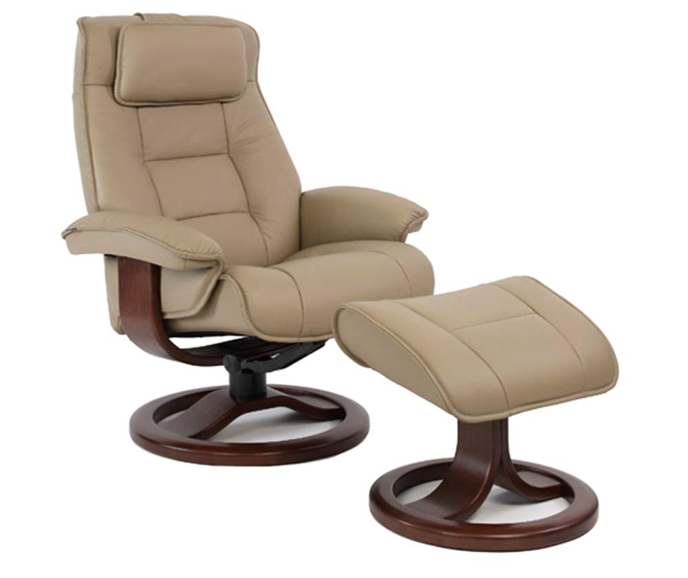 Small Chair With Ottoman: Fjords Mustang Small Chair & Ottoman