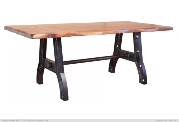 Parota Collection Wood Dining Table With Iron Base