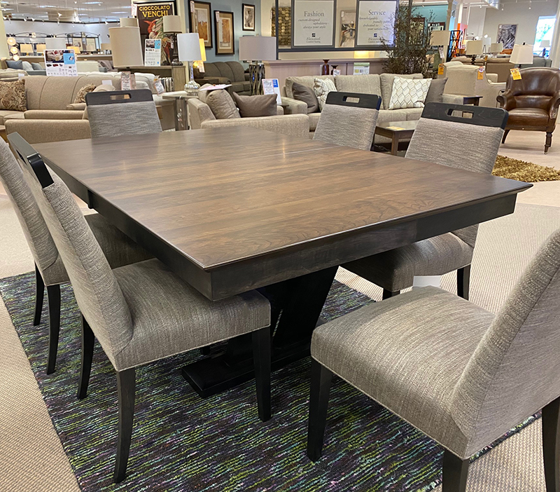 Mckenzie Dining Table, Dining Room Table With Self Storing Leaves